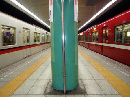 犬を都営地下鉄の電車に乗せる