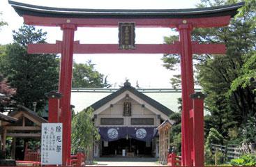犬と行ける神社善知鳥神社(青森県青森市)